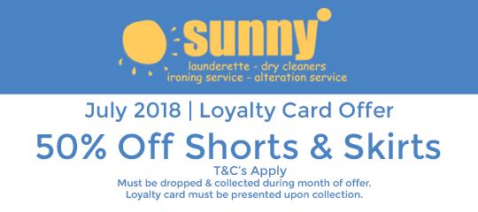 Sunny July 2018 Offer