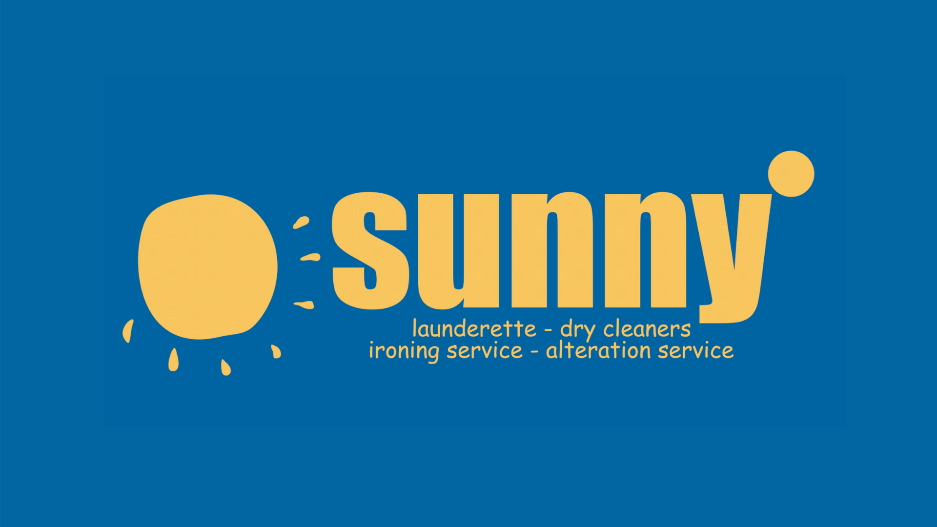 Sunny laundry and dry cleaning logo